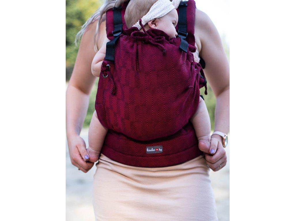 Kinder Hop Rostoucí ergonomické nosítko Multi Soft Diamond Maroon 100% bavlna, žakár