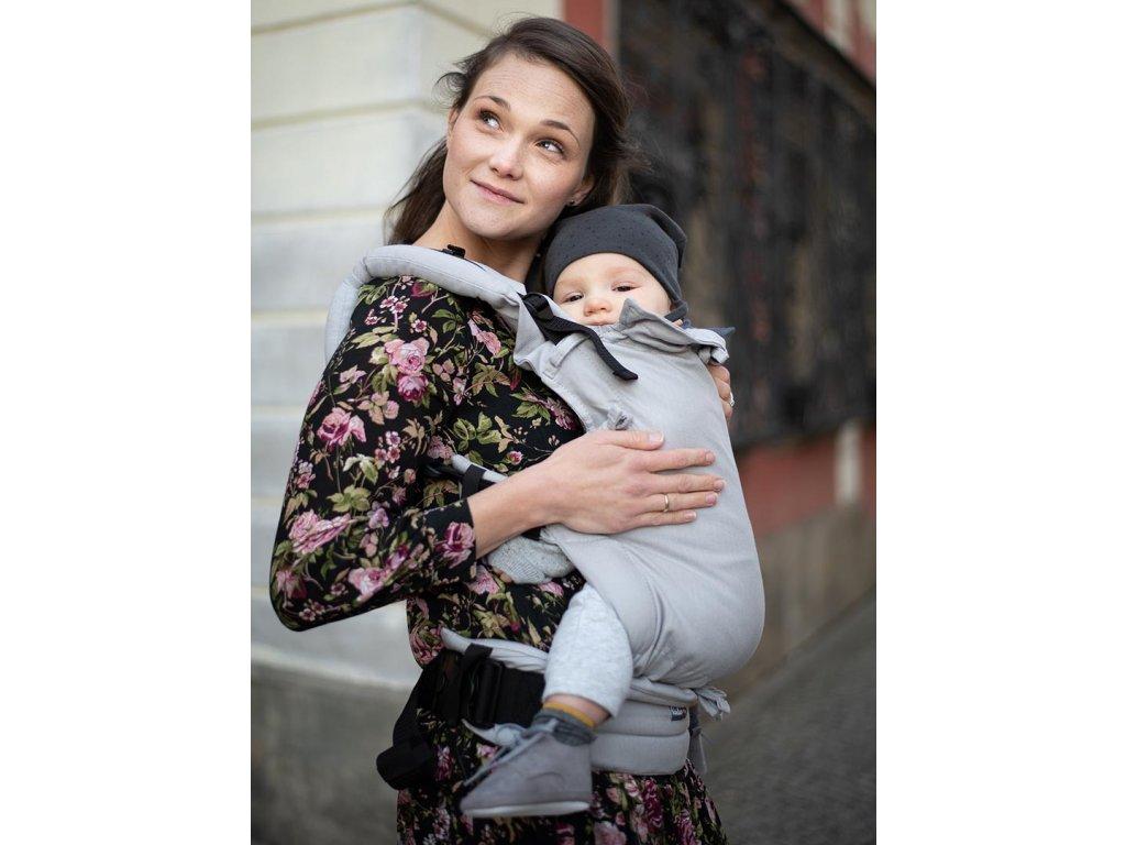 Kinder Hop Rostoucí ergonomické nosítko Multi Soft Little Herringbone Ecru 100% bavlna, žakár