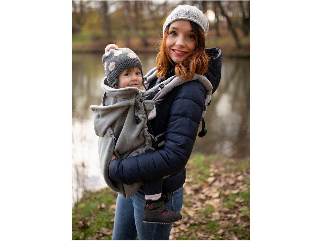 Kinder Hop Zateplovací kapsa na nosítko fleece Grey šedá