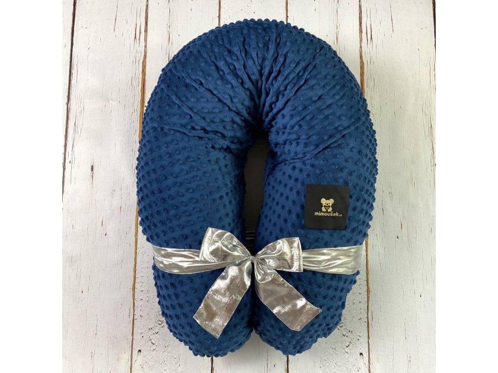 těhotenský polštář královská modrá