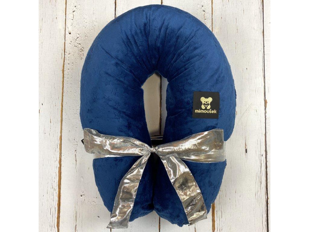 Kojící polštář MAXI STARS královská modrá