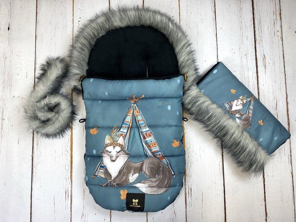Zimní fusak Mimoušek vlk set