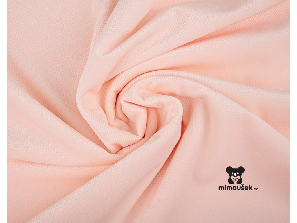 velvet minky růžová soft