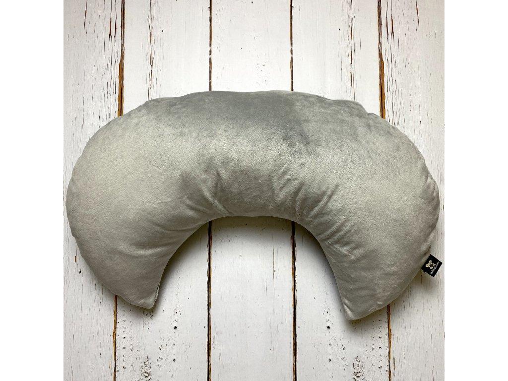polštář na kojení šedý