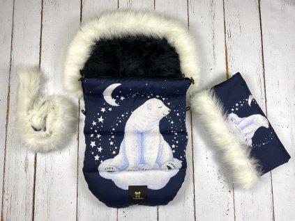 Zimní fusak Mimoušek lední medvěd set  + doprava zdarma