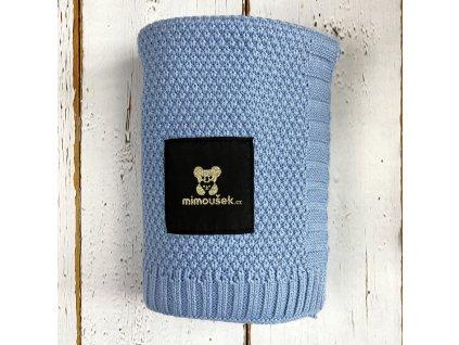 Mimoušek pletená deka modrá