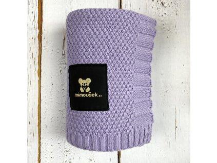 Mimoušek pletená deka levandulová