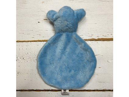 Usínáček Mimoušek medvídek nebeská modř STARS