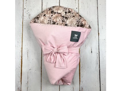 Péřová zavinovačka Mimoušek soft růže velvet růžová