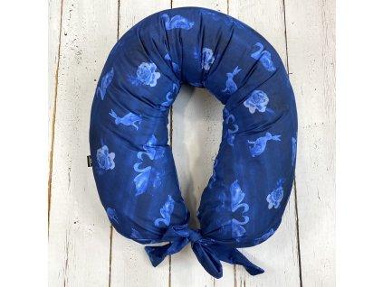 Kojící polštář MAXI limited labutě dark blue