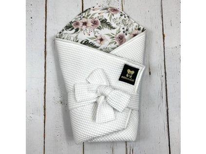 Lehká zavinovačka Mimoušek vafle bílá růže