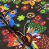 Set podložky a deky do kočárku Mimoušek Black Flowers