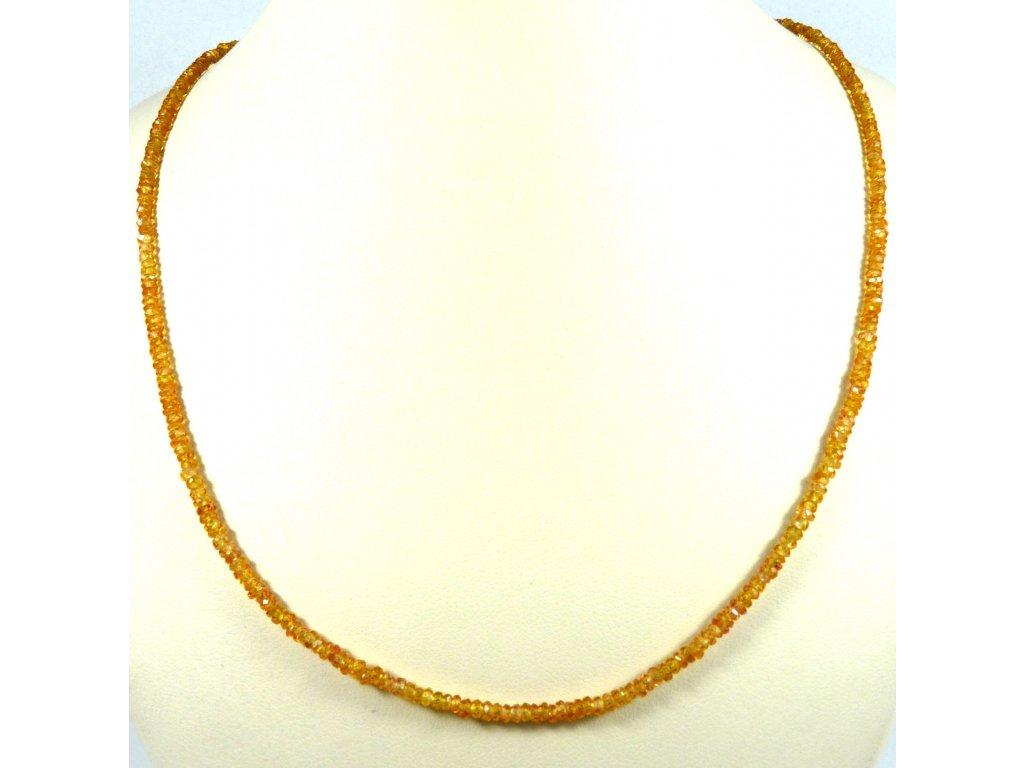 Spinel žlutý náhrdelník