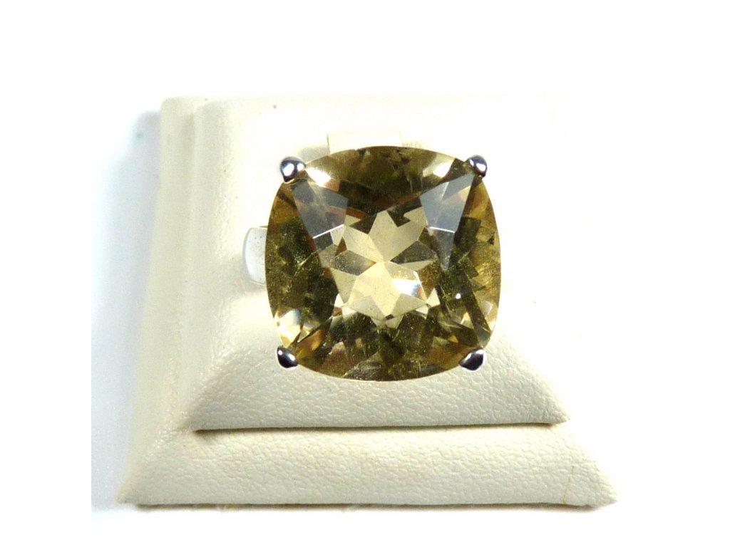 Citrín prsten