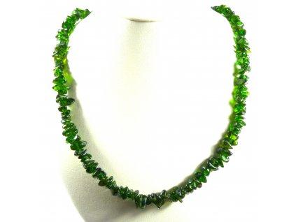 Chromdiopsid náhrdelník