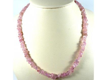 Turmalín Rubelit náhrdelník