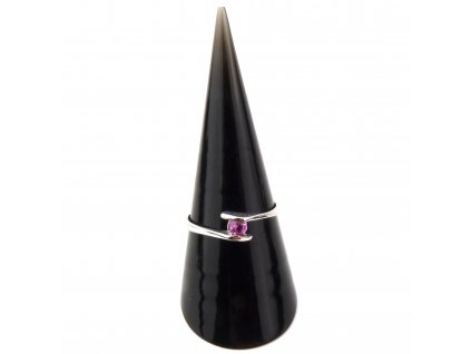 Turmalín Rubelit prsten