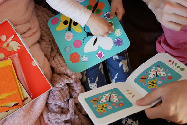 Recenze kreativní sady Djeco: Koláže z plsti