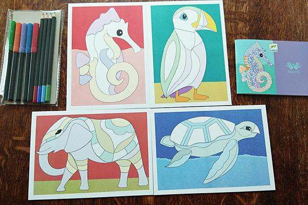 Recenze výtvarné sady Djeco: Motif Art - zvířata
