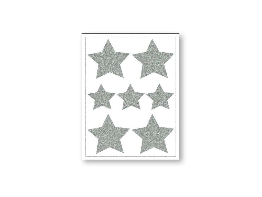 reflexní nažehlovací obrázky hvězdy