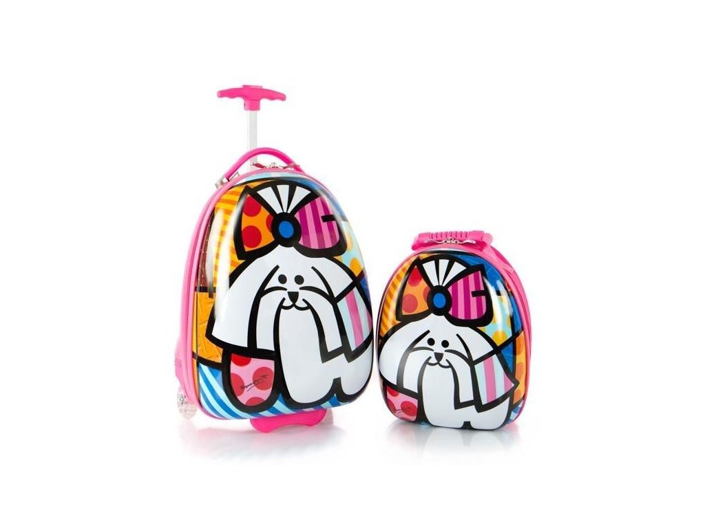Dětský kufr růžový na kolečkách Heys