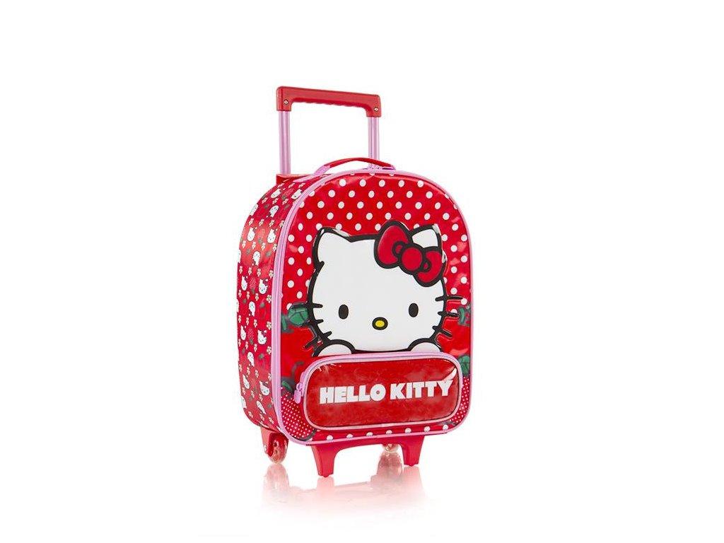 Dětský textilní kufr HEYS HELLO KITTY červený holky