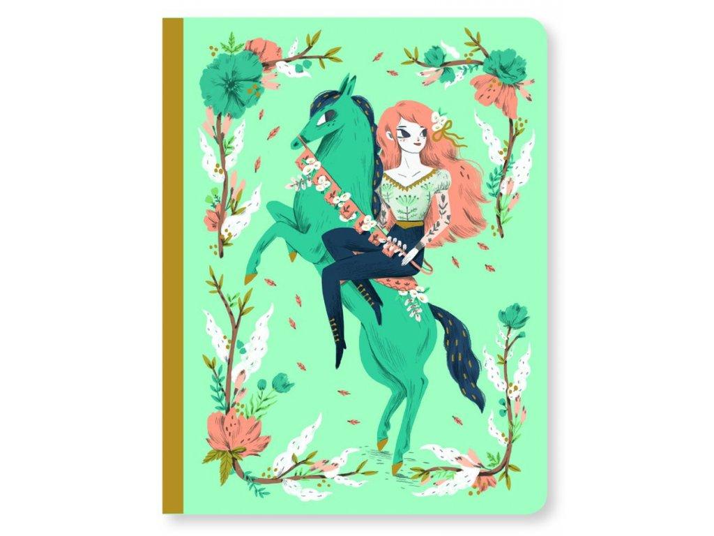 Krásný designový zápisník Lucille a koník