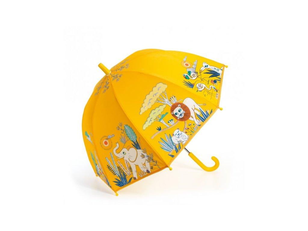 Dětský deštník Savana žlutý zvířata