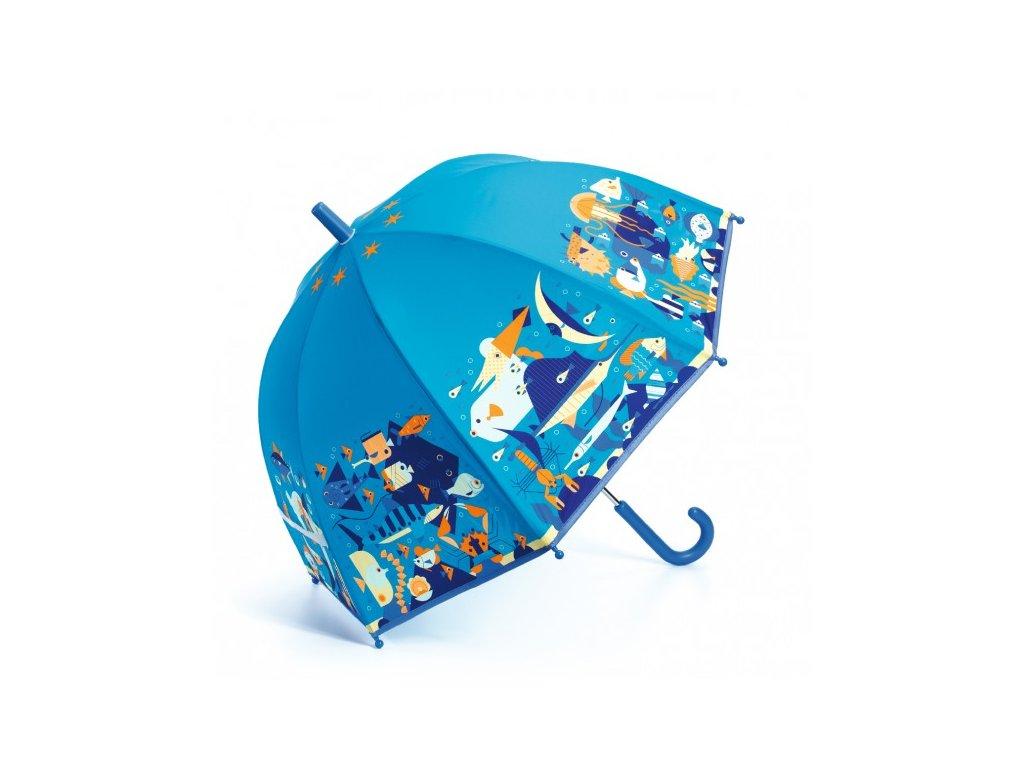Dětský deštník Mořský svět modrý