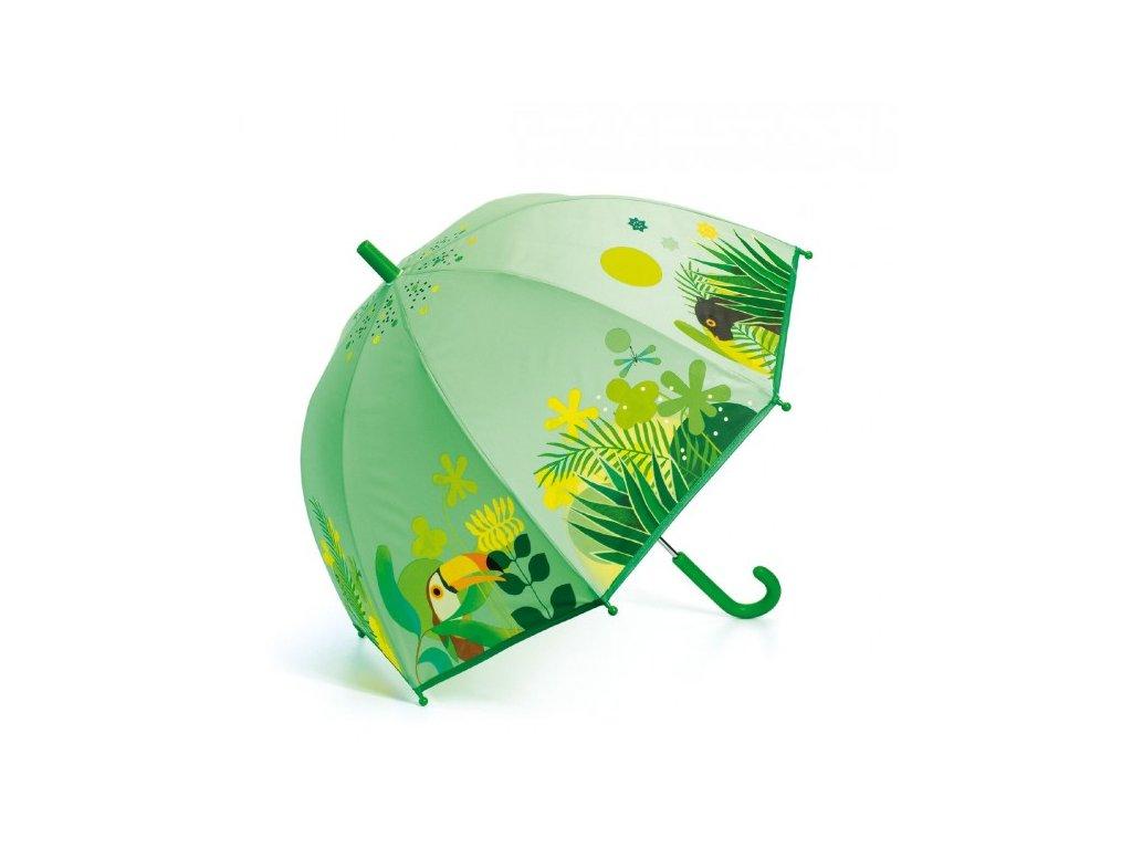 Dětský deštník zelený Tropická Jungle