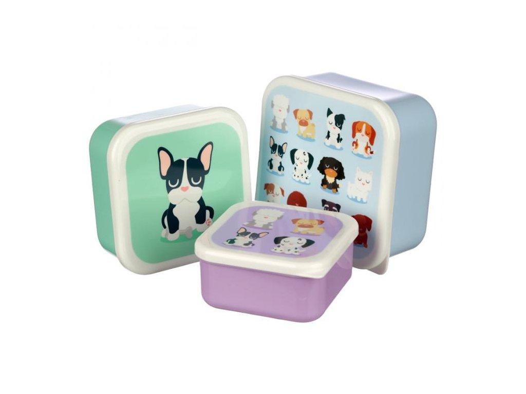 krabičky na svačinu psi