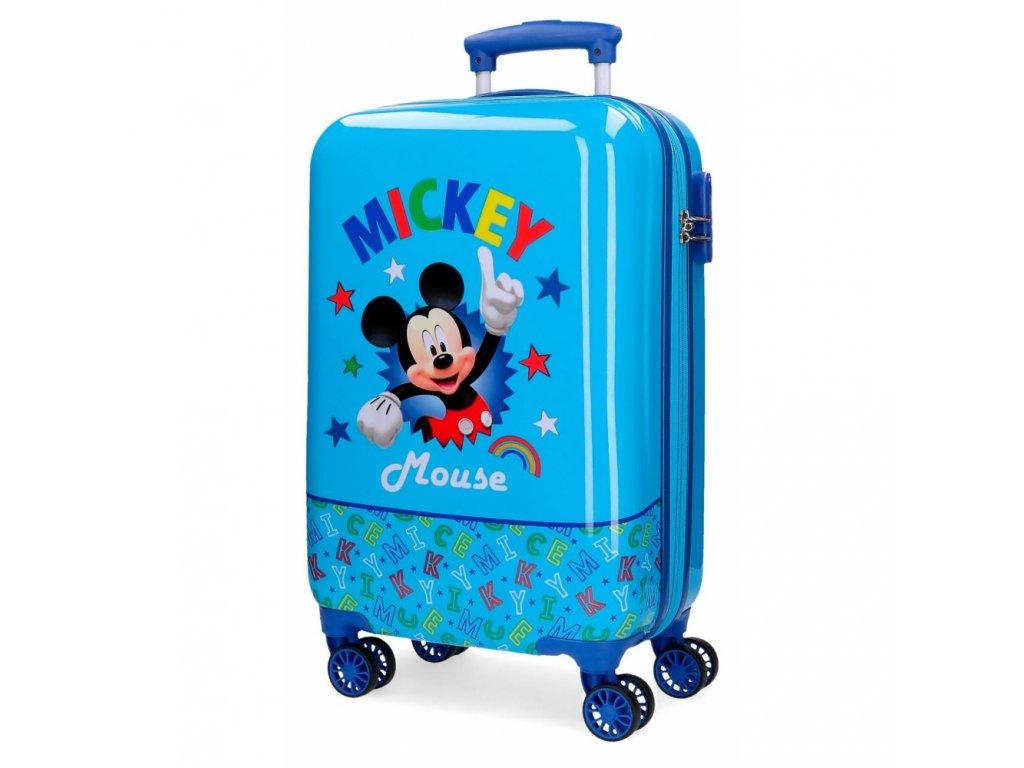 Cestovní kufr ABS Mickey Stars 55 cm modrá