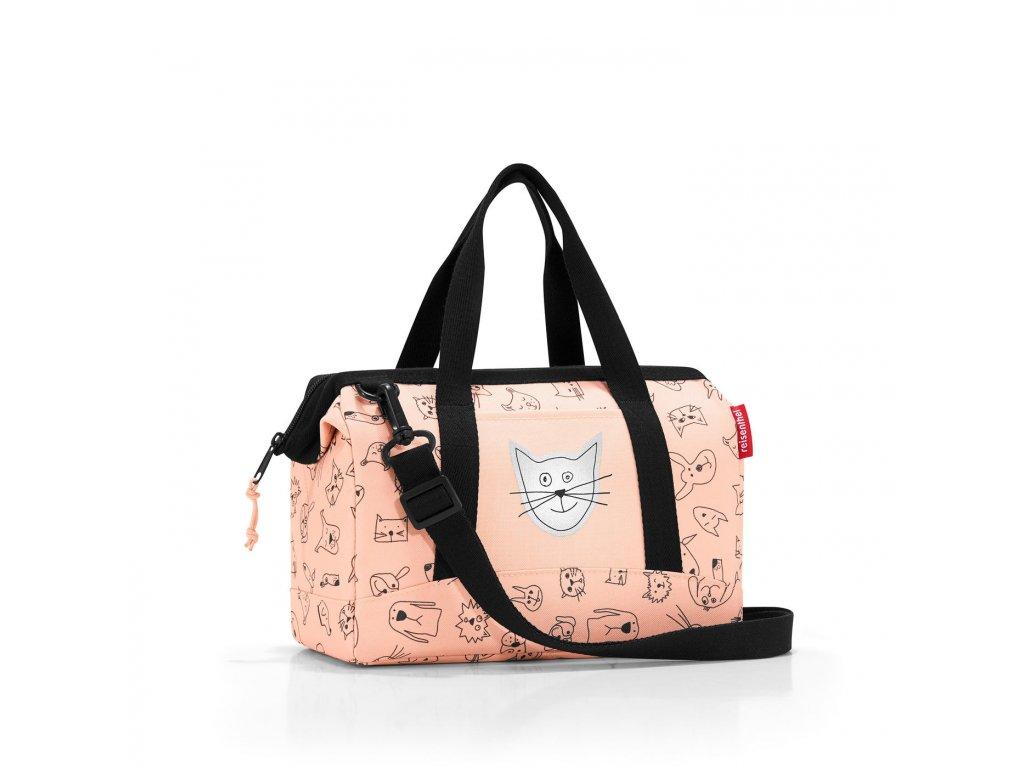Dětská cestovní taška REISENTHEL XS, růžová, malá, kočka