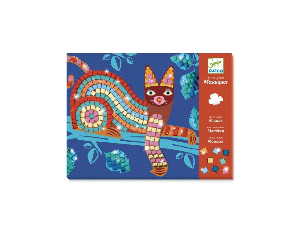 Mozaika - Kočka a želva, Djeco, kreativita pro děti