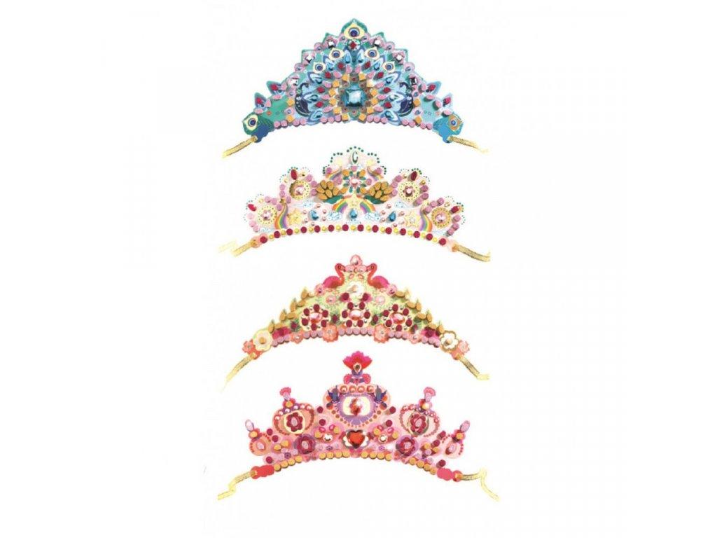 Kreativní sada - mozaikové princeznovske korunky pro děti