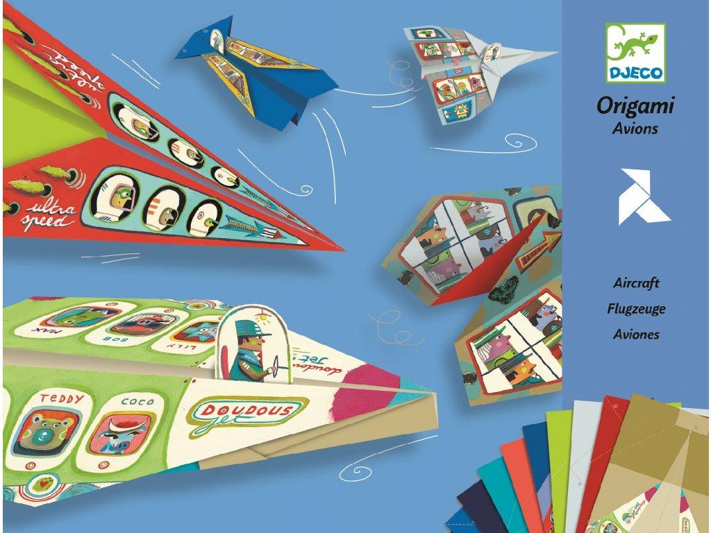 Origami skládačka letadla, vlaštovky djeco