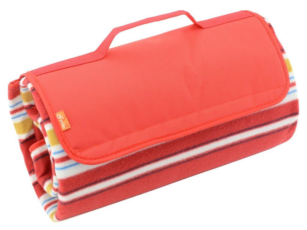 Pikniková deka Cattara fleece červená