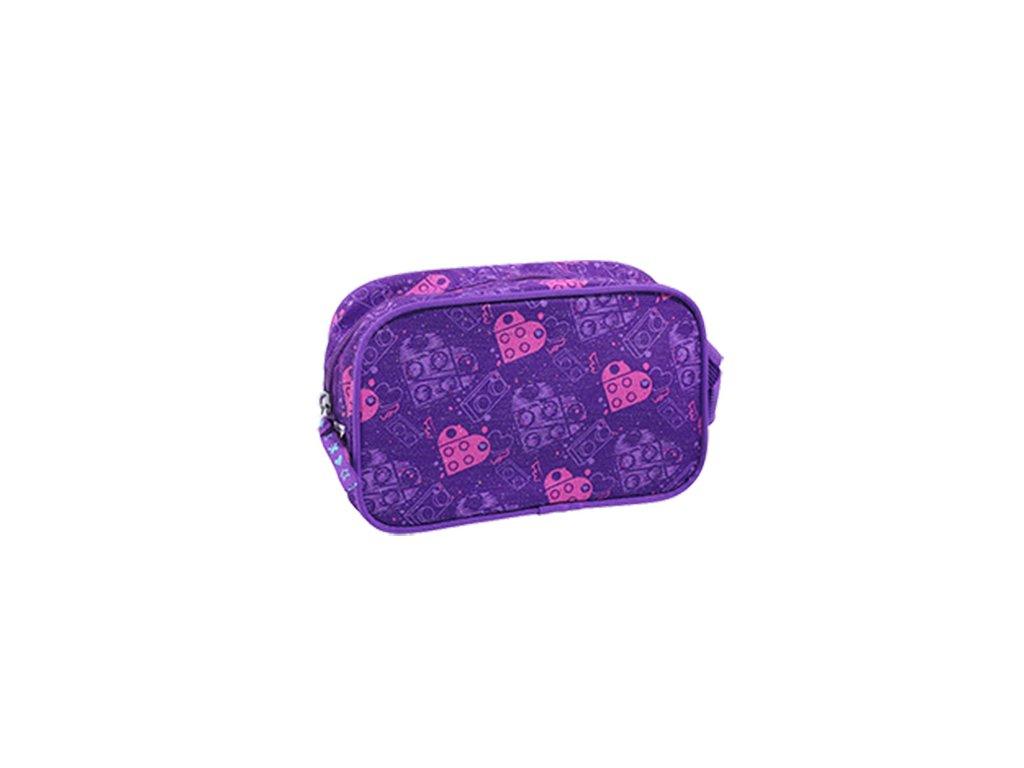 Toaletní taška LEGO Friends Hearts fialová