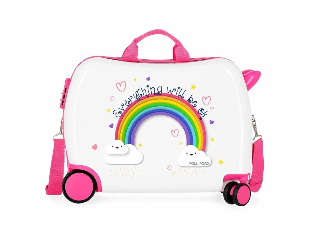 Dětský kufřík na kolečkách odrazedlo duha rainbow
