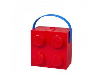 LEGO box na svačinu s rukojetí - červená