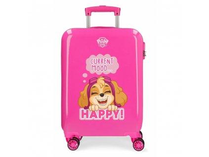 Dětský cestovní kufr růžová Paw patrol kye pro holku