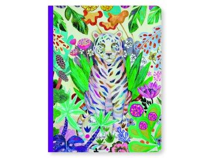 designový zápisník, sešit s tygrem