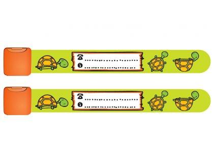 Identifikační náramek želva 2 ks