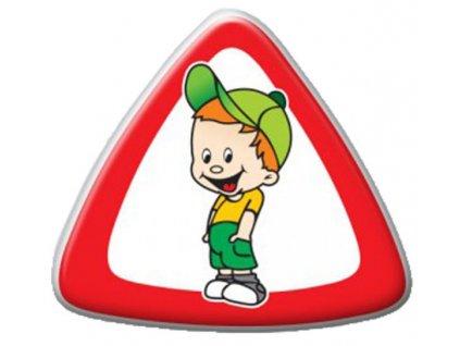 dite v aute trojuhelnik kluk
