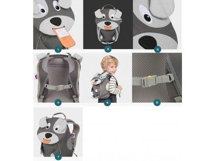 Dětský batůžek Affenzahn od 1 roku žába zelený