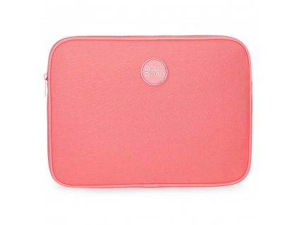 Cestovní pouzdro obal na tablet Roll Road na zip korálový, růžový
