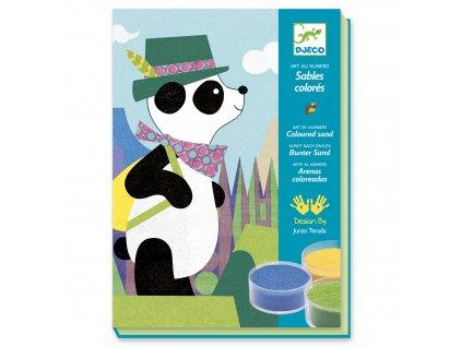 Kreativní sada pískování - Panda a kamarádi