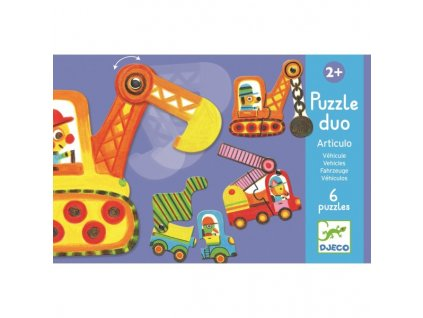Duo puzzle Autíčka v pohybu pro děti, 2 roky, 3 roky
