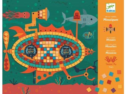 Mozaika - Stroje v pohybu, kreativní set Djeco