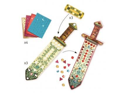 Kreativní sada - svíticí mozaikové meče a šavle